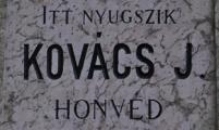Kovács J. 1848-as honvéd sírja